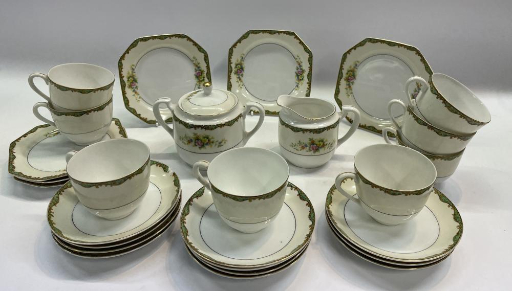 A Noritake Tea Service with Floral Detail