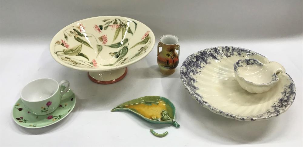 A Collection of Ceramics Incl. Royal Albert Cup & Saucer & Australian Signed Studio Pottery