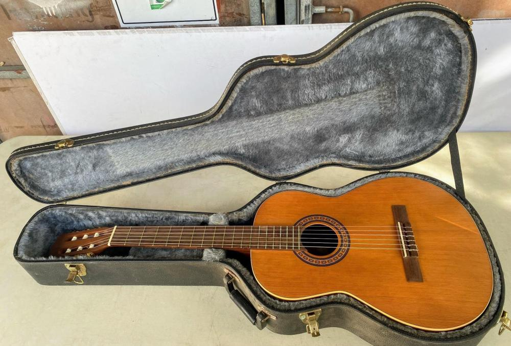 """An Acoustic Guitar Model """"Presentation"""" Made by La Patrie of Quebec Canada & Hard Case"""