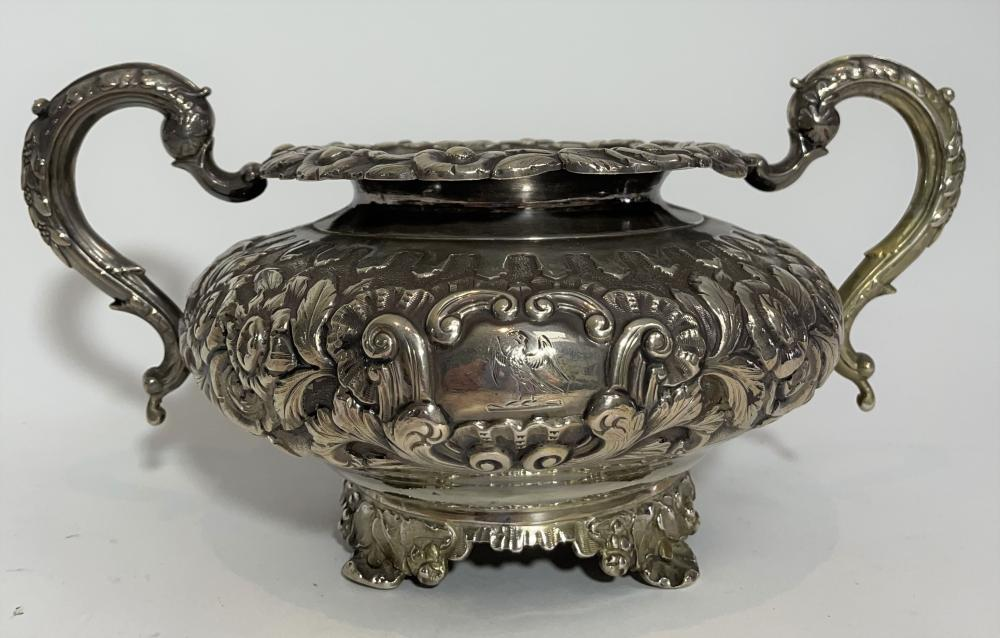 A Georgian Sterling Silver Twin Handled Bowl, James Le Bas, Dublin,1883
