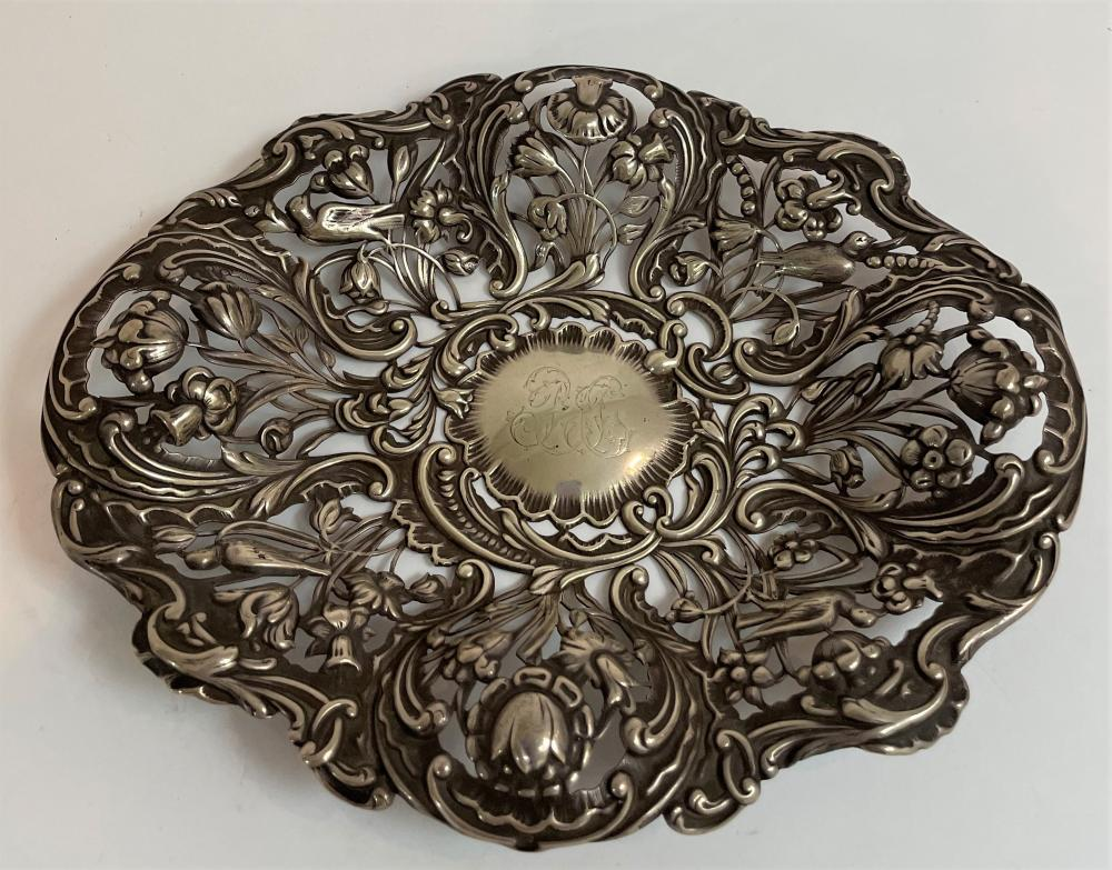 A Sterling Silver Pierced Tray, William Comyns & Sons, London, 1893