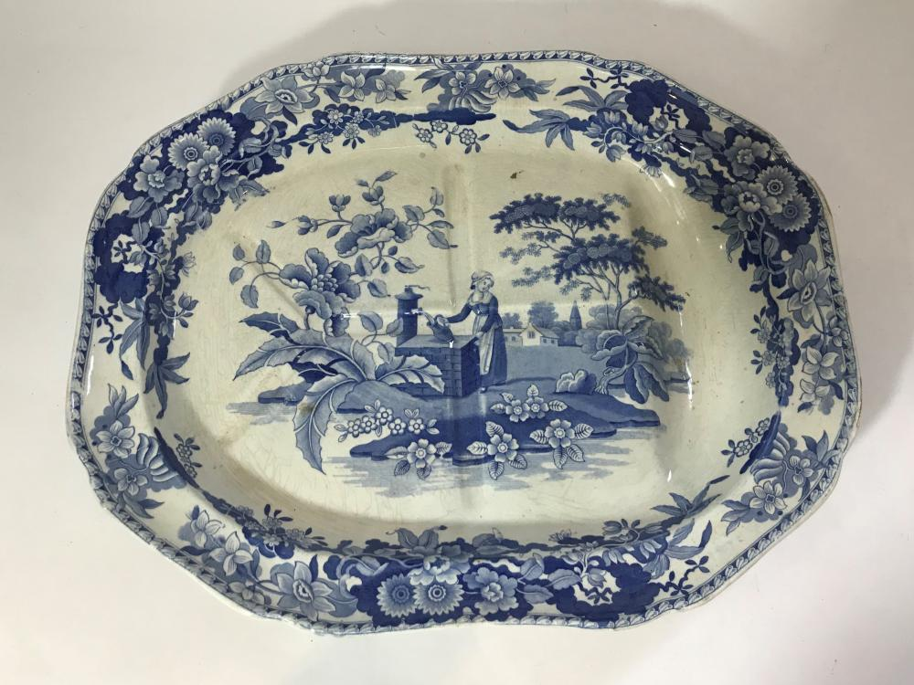 A Spode Blue & White Meat Dish