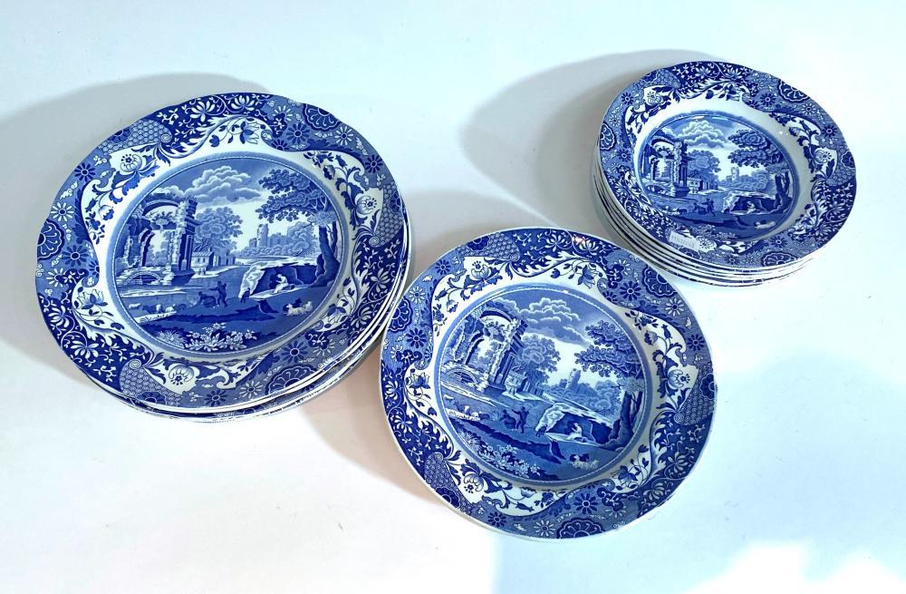 A Copeland Spode Blue & White Dinner Service