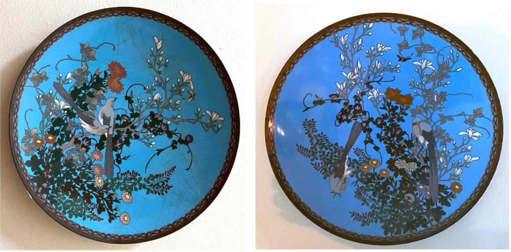 Two Japanese Cloisonné Plates, late Meiji Period