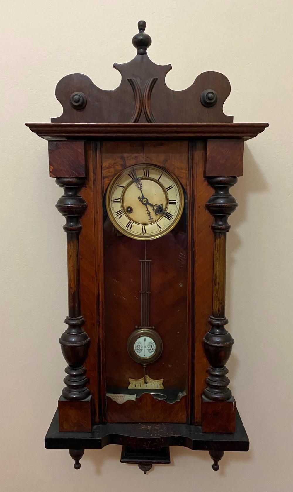 A Timber Framed Wall Clock