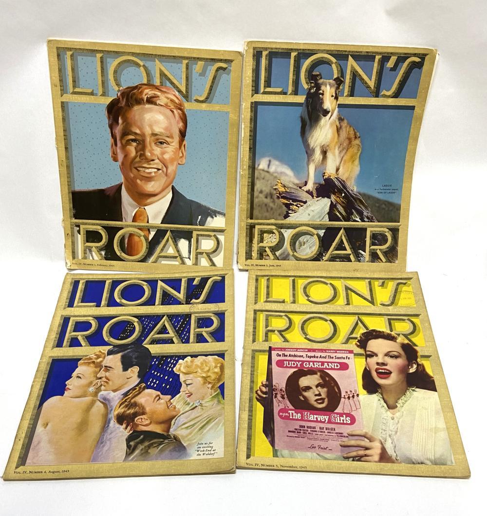 Lion's Roar, 4 Issues, 1945,