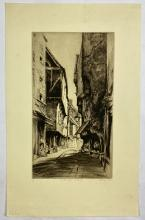 John Barclay Godson, (1882-1957), The Shambles, York I, Etching/drypoint ed. 3/50
