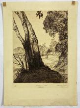 John Barclay Godson, (1882-1957), Bushranger's Hill, Pittwater, Etching/aquatint ed. 15/50