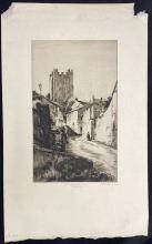 John Barclay Godson (1882-1957) Richmond Castle Tower, Yorkshire Etching ed. 1/50