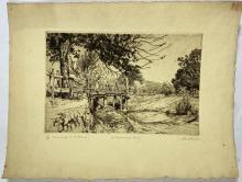 John Barclay Godson, (1882-1957), A Minnamurra Crossing, Etching ed. 26/40