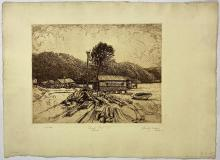 John Barclay Godson, (1882-1957), Church Point, Pittwater, Etching ed. 5/50 First State