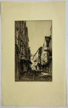 John Barclay Godson, (1882-1957), The Shambles II, York, Etching ed.10/50
