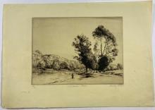 John Barclay Godson, (1882-1957), A Yorkshire Stream, Etching/drypoint ed.25/30