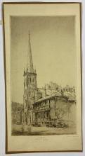John Barclay Godson, (1882-1957), St Stephens Church, Phillip Street, Sydney, Etching ed. uneditioned