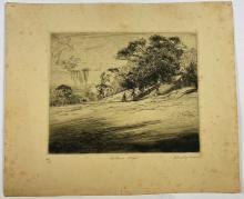 John Barclay Godson, (1882-1957), Botanic Steps, Etching ed. 24/40