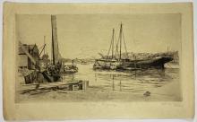 John Barclay Godson, (1882-1957), Old Timers, Berrys Bay, Etching ed.15/50