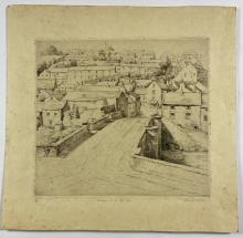 John Barclay Godson, (1882-1957), Entrance to the Old Town, Etching ed.2/40