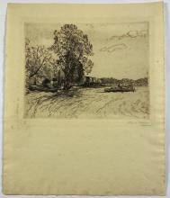 John Barclay Godson, (1882-1957), Near Narrabeen, Etching ed.4/50
