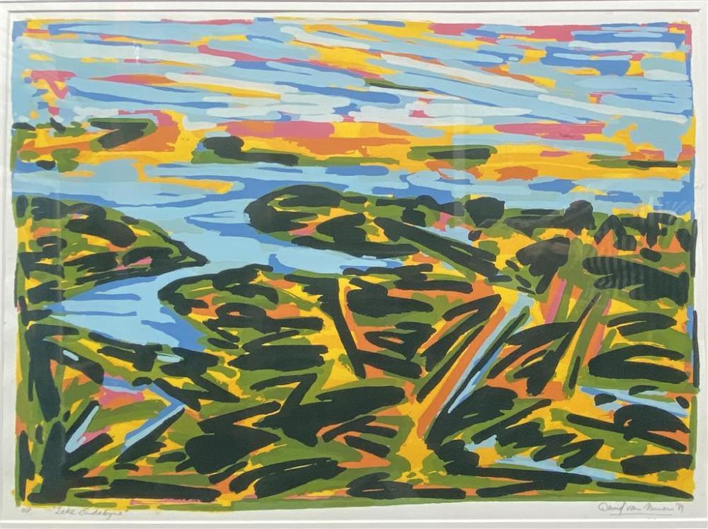 David van Nunen, (b.1952), Lake Jindybyne 1989, Silkscreen ed. WP