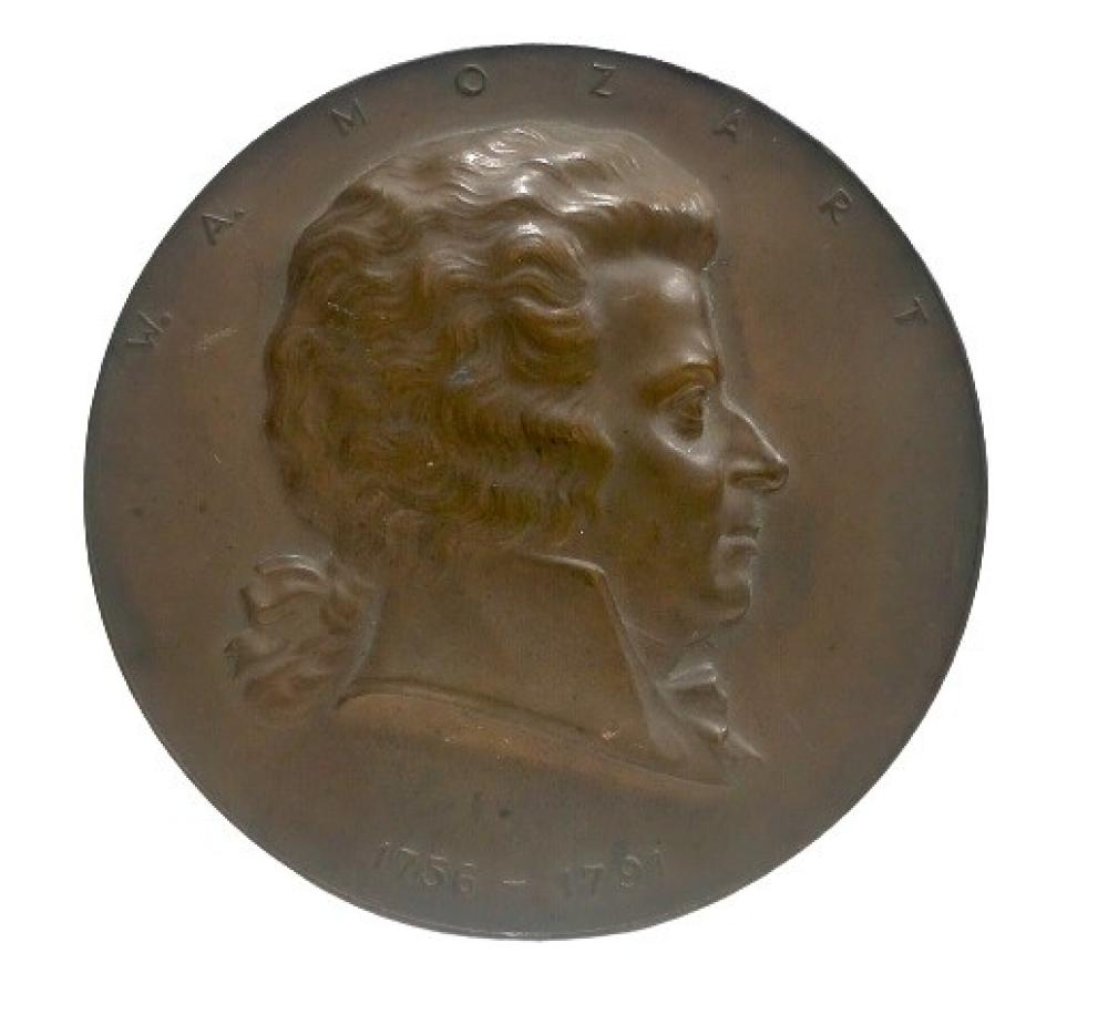 A W.A. Mozart bronze token, 1756 - 1791 Dia. 75mm