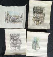 Allan Gamble (1907-2001) University of Sydney Four colour reproduction prints one editioned ed. 30/200