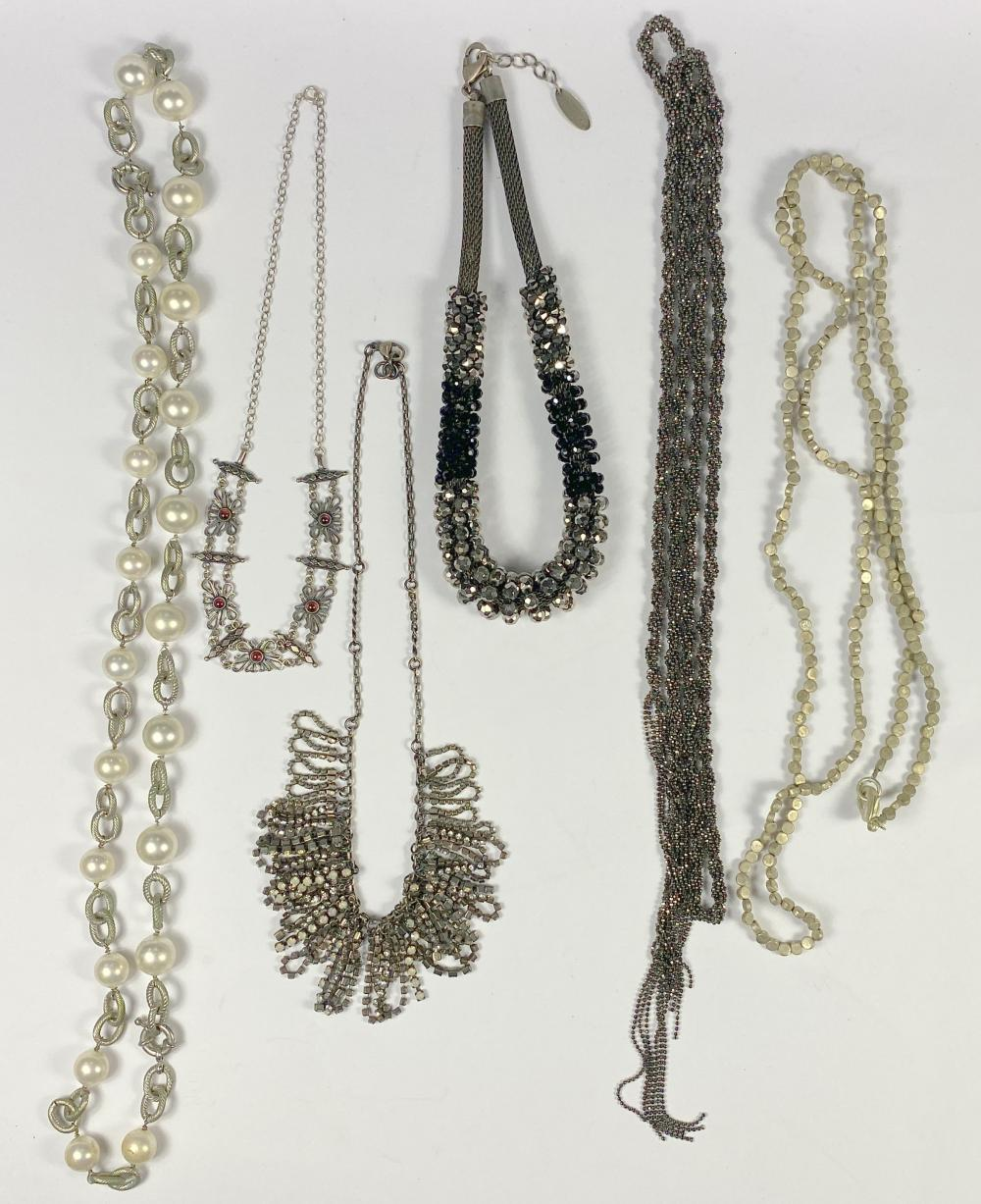 A Collection of Beaded Necklaces & A Beaded Lariat, including Mimco & Witchery