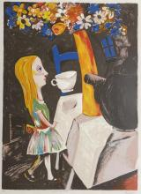 Charles Blackman (1928-2018) Always Teatime, Alice Series 2001 Silkscreen ed. A/P