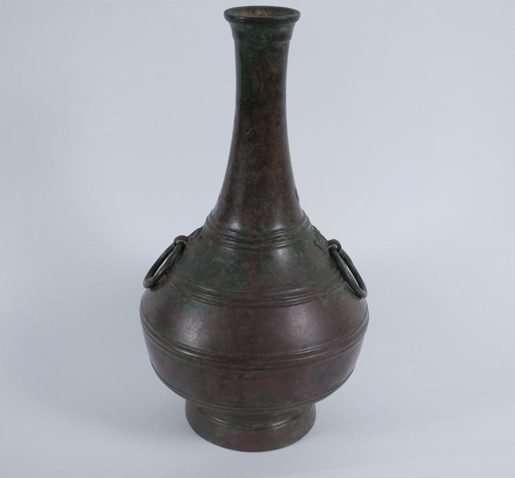 Chinese Han Period Handled Bronze Vase