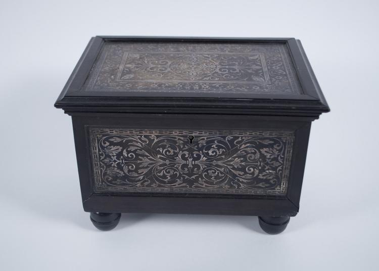 Grand Tour Silver Damascened Jewelry Casket