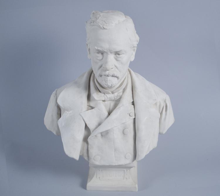Sevres Bisquit Porcelain Bust of Louis Pasteur