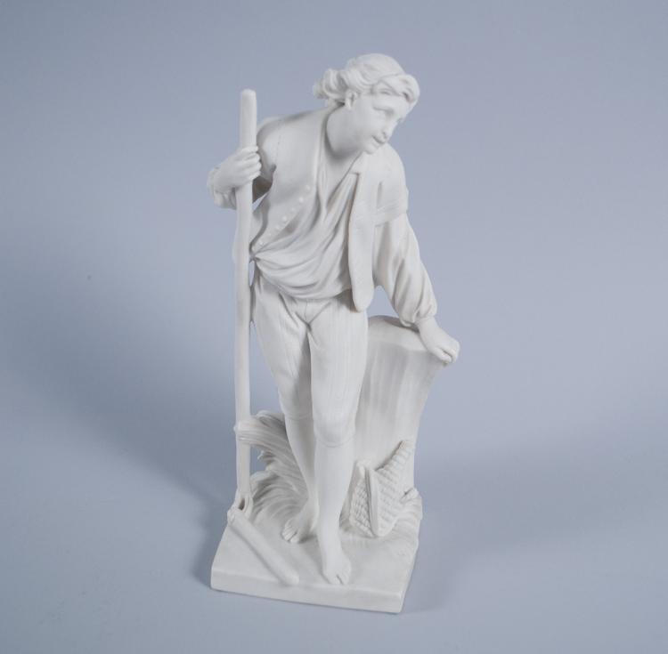 Sevres White Bisque Porcelain Figure of a Peasant Boy