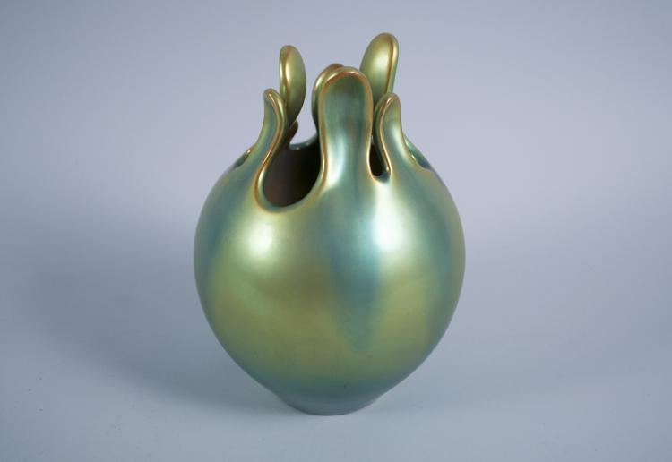 Eva Zeisel Prototype Zsolnay Fig Vase 1983