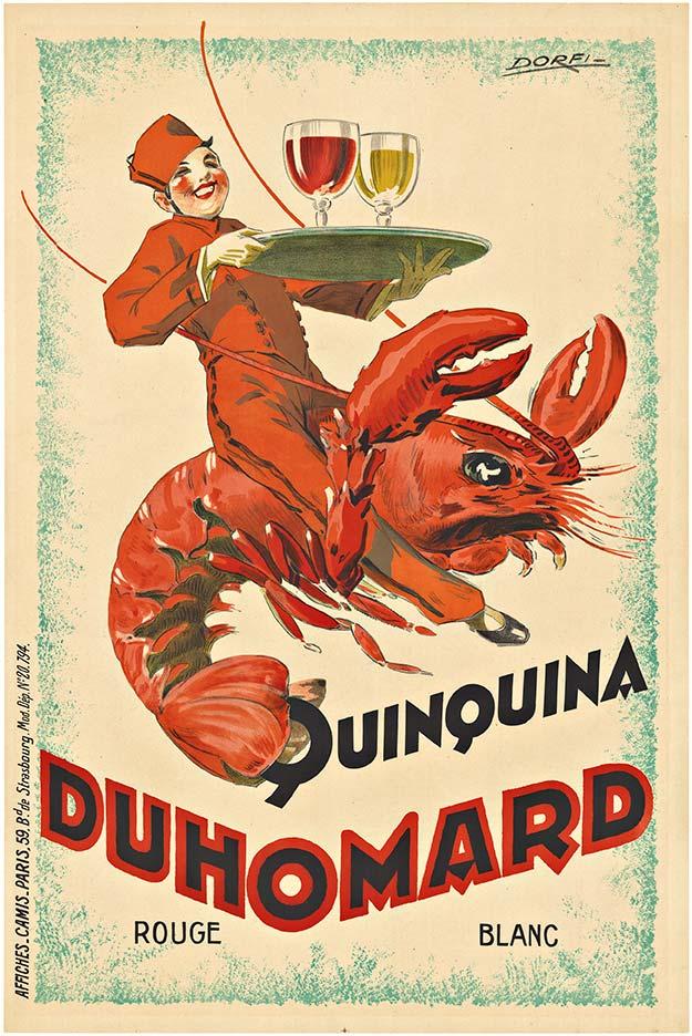 Duhomard Quinquina vintage poster by Albert Dorfi.