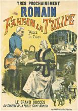 Fanfan la Tulipe (Fantastic Tulip) antique opera poster by Faria