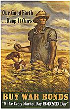 OUR GOOD EARTH KEEP IT OUR, Origiinal WWII Vintage Poster