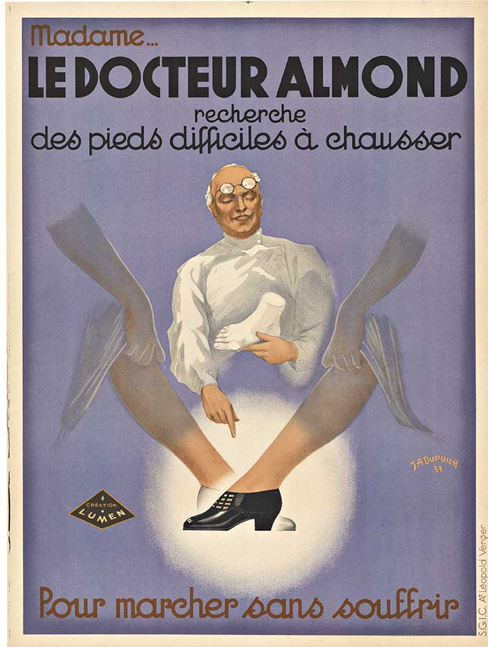 LE DOCTEUR ALMOND; Original French antique poster