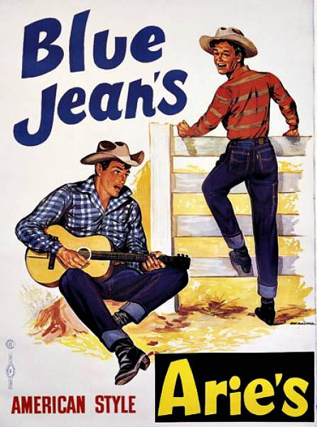 ARIE'S BLUE JEANS; Original French advertising poster