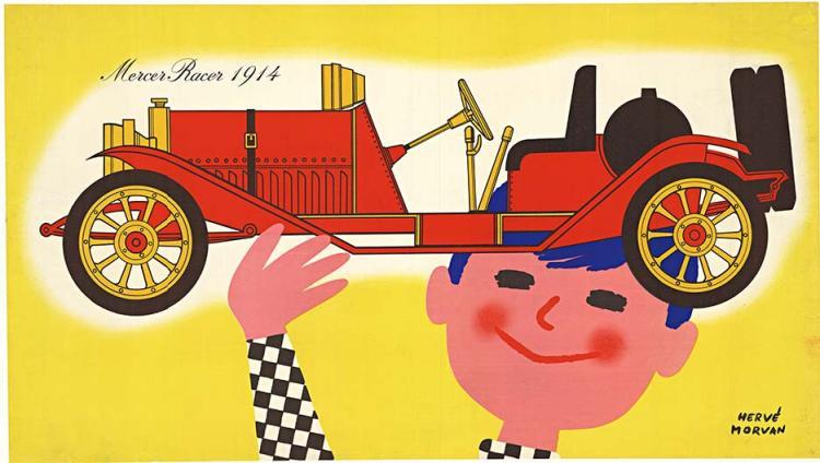 MERCER RACER 1914, horizontal French poster