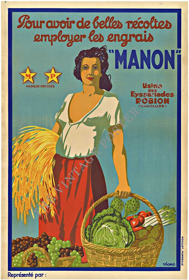 MANON, Original antique French advertising poster