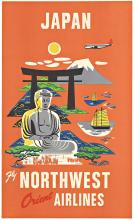 JAPAN Fly NORTHWEST ORIENT AIRLINES