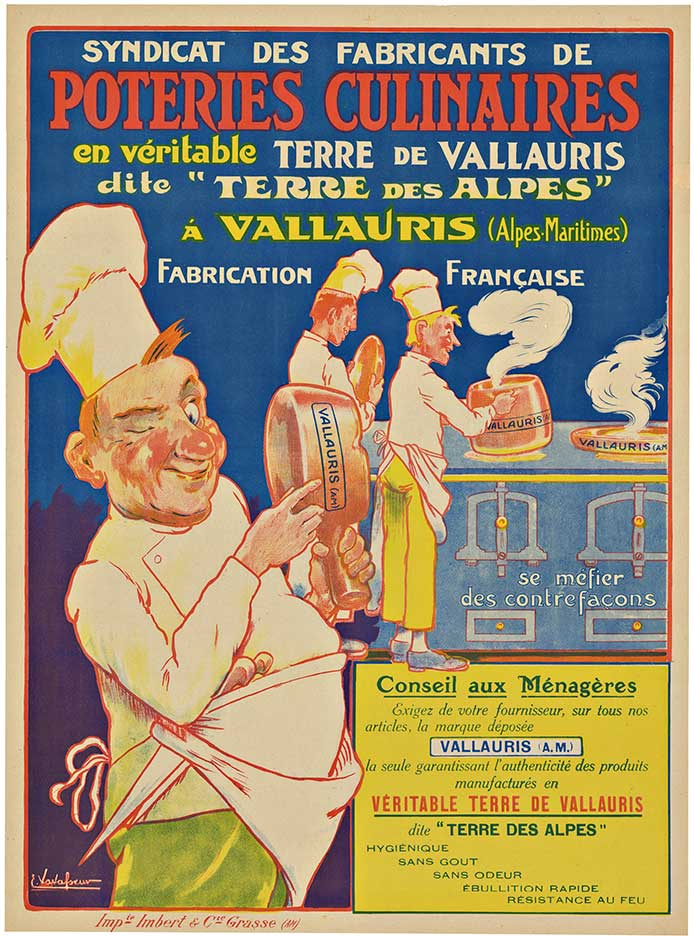 POTERIES CULINAIRES; Original French antique poster