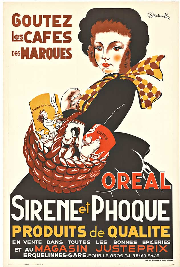 SIRENE et PHOQUE; Original vintage French antique poster