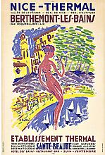 Nice - Thermal, BERTHEMONT LES BAINS; Original vintage French travel poster