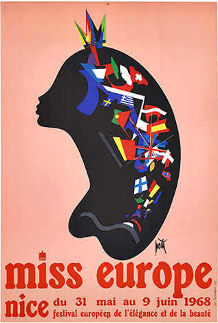 Miss Europe (Nice, France); original French poster