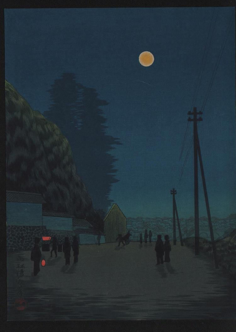Original Japanese woodblock print by Kiyochika