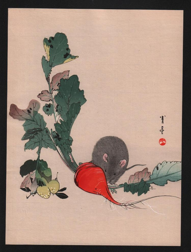 Original Japanese woodblock print by Seitei