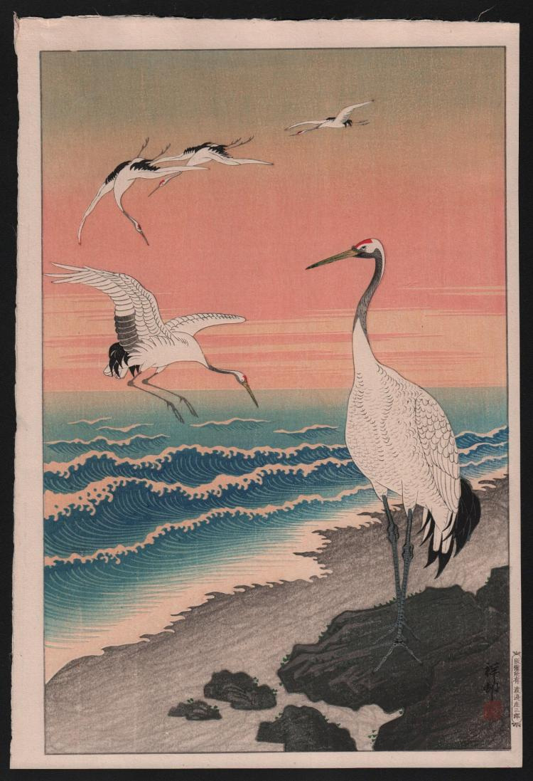 Original Japanese woodblock print by Koson