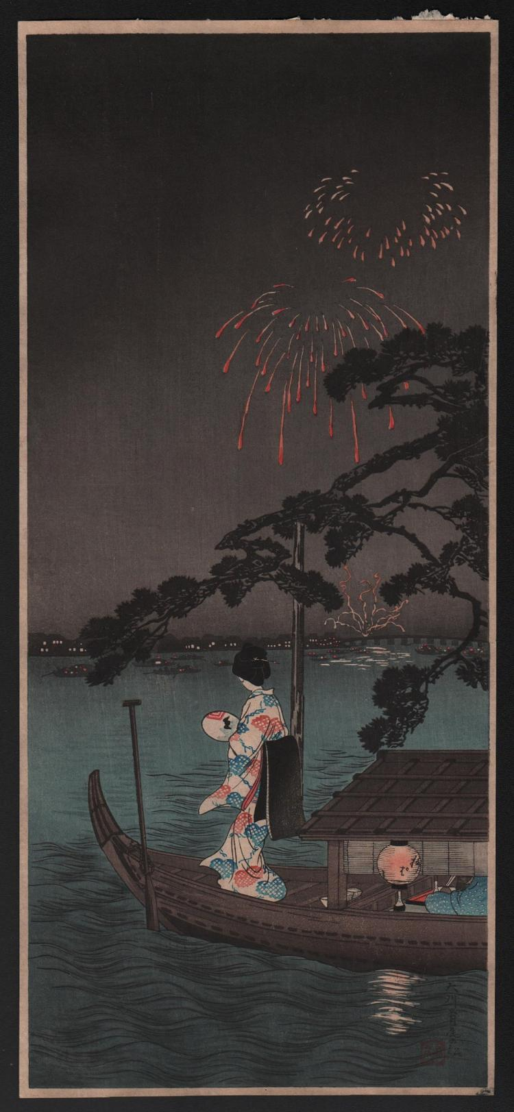 Original Japanese woodblock print by Takahashi Shotei