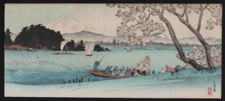 Original Japanese woodblock print by Takahashi Shotei (rare)
