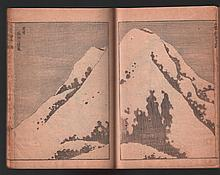 Original Japanese Woodblock printed book (ehon) by Hokusai